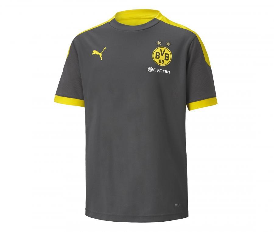 Maillot Entraînement Dortmund Gris/Jaune Junior
