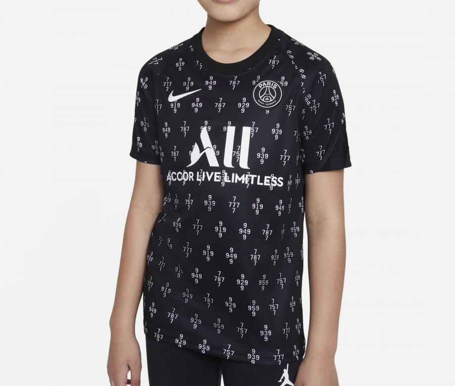 Maillot Pré-Match PSG Strike Noir Junior