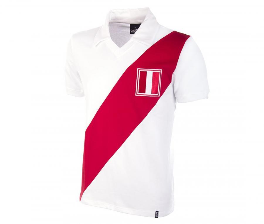Maillot Vintage Copa Classic Pérou 1970 Blanc/Rouge