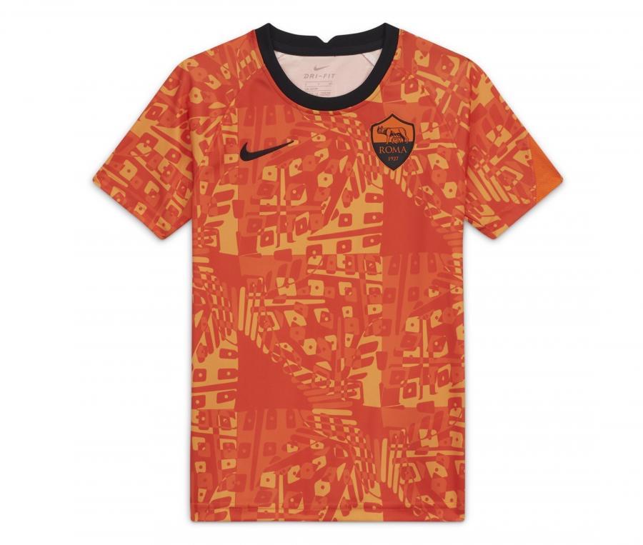 Maillot Pré-Match AS Roma Orange Junior