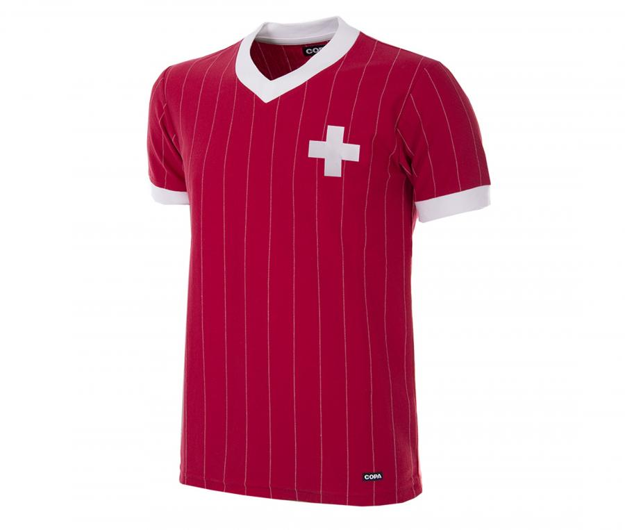 Maillot Vintage Suisse 1982 Rouge