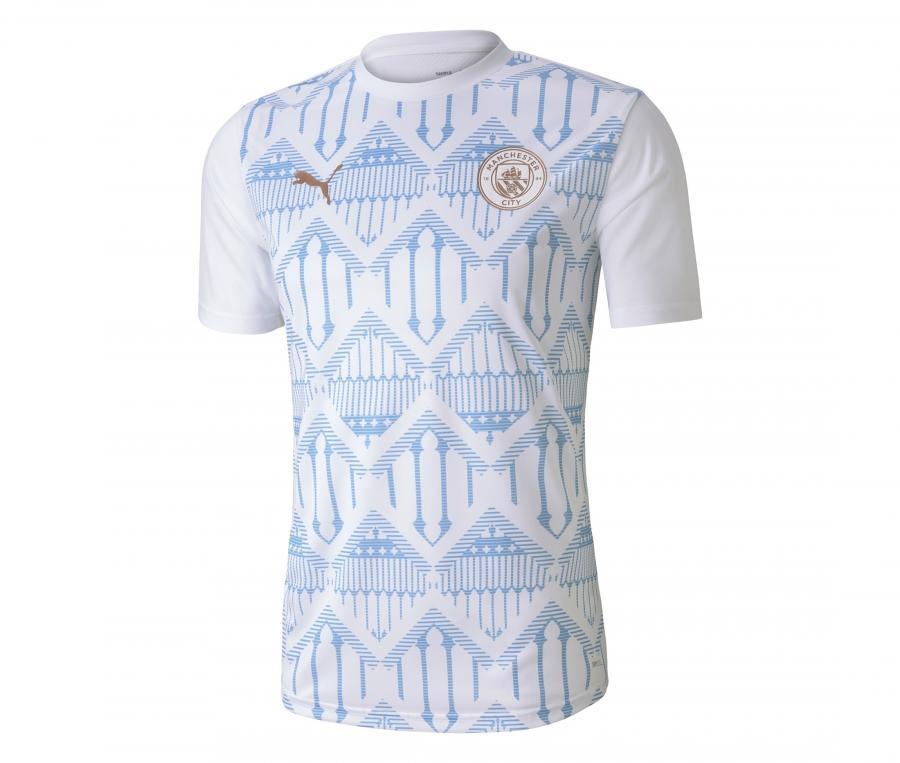 Maillot Pré-Match Manchester City Blanc