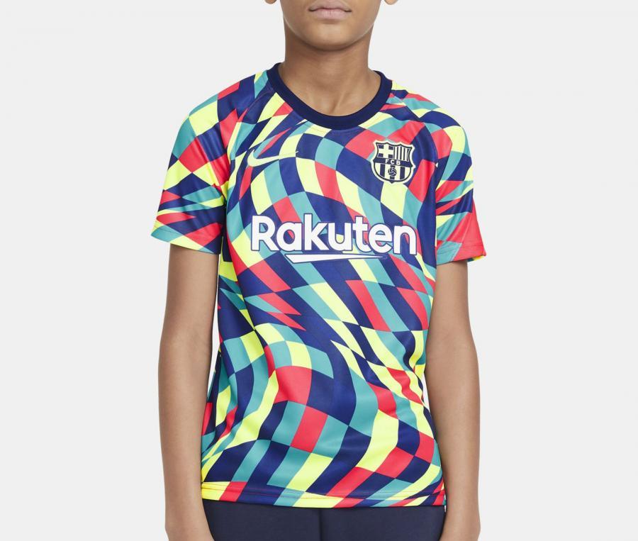Maillot Pré-Match Barça Multicolore Junior