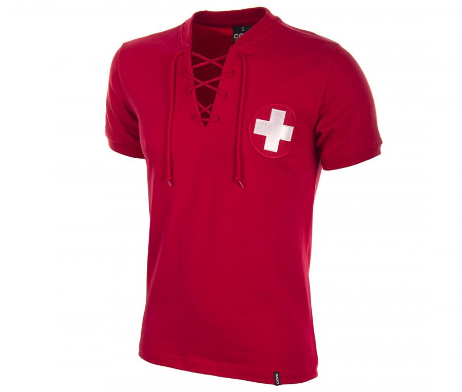 Maillot Vintage Suisse 1954 Rouge