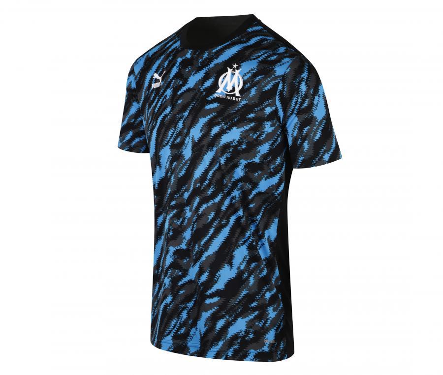 Maillot Pré-Match OM Graphic Noir/Bleu
