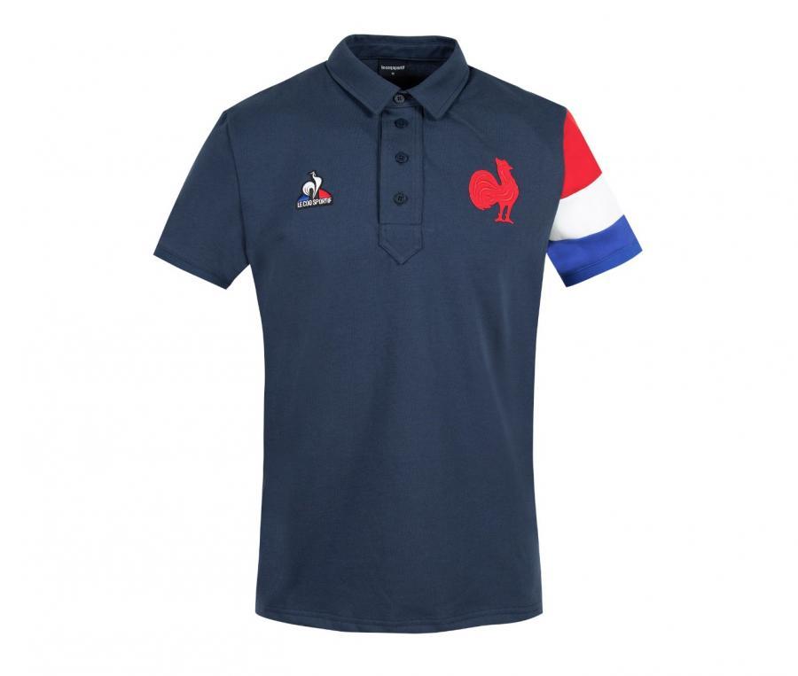 Polo Présentation FFR France Rugby Bleu