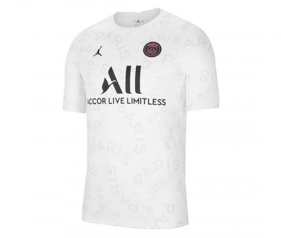Maillot Pré-Match Jordan x PSG Blanc