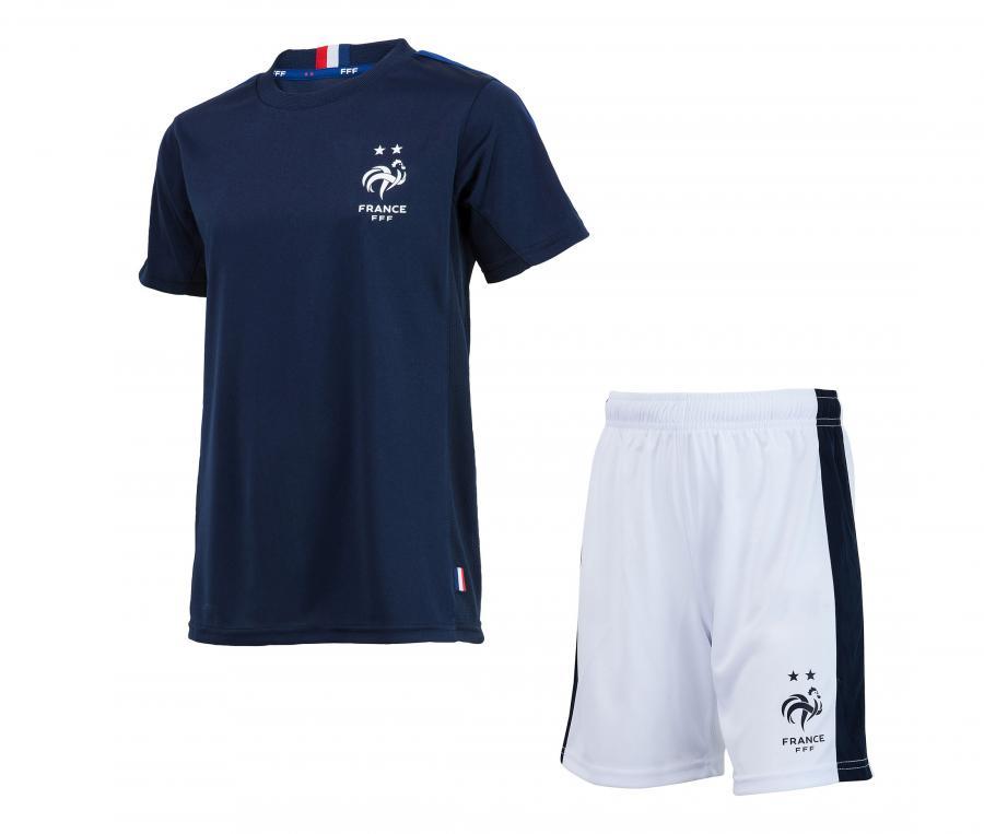 Mini Kit France Fan Bleu/Blanc Junior