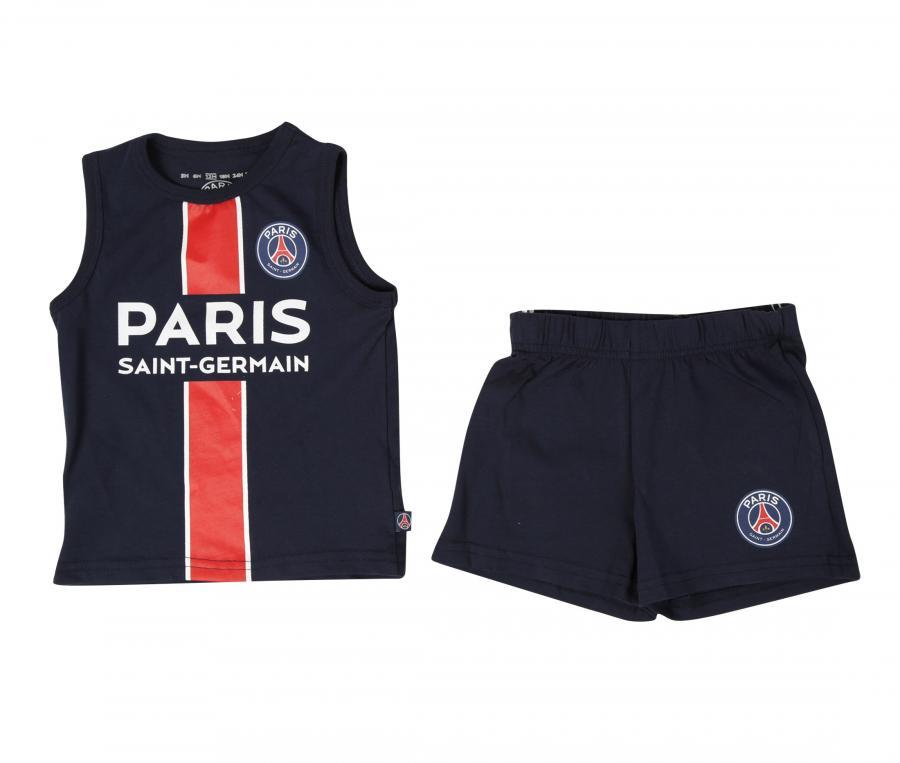 Kit Débardeur + Short PSG Bleu Junior