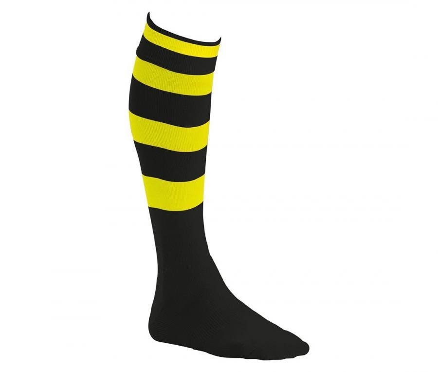 Chaussettes de rugby Compétition cerclées noir / jaune