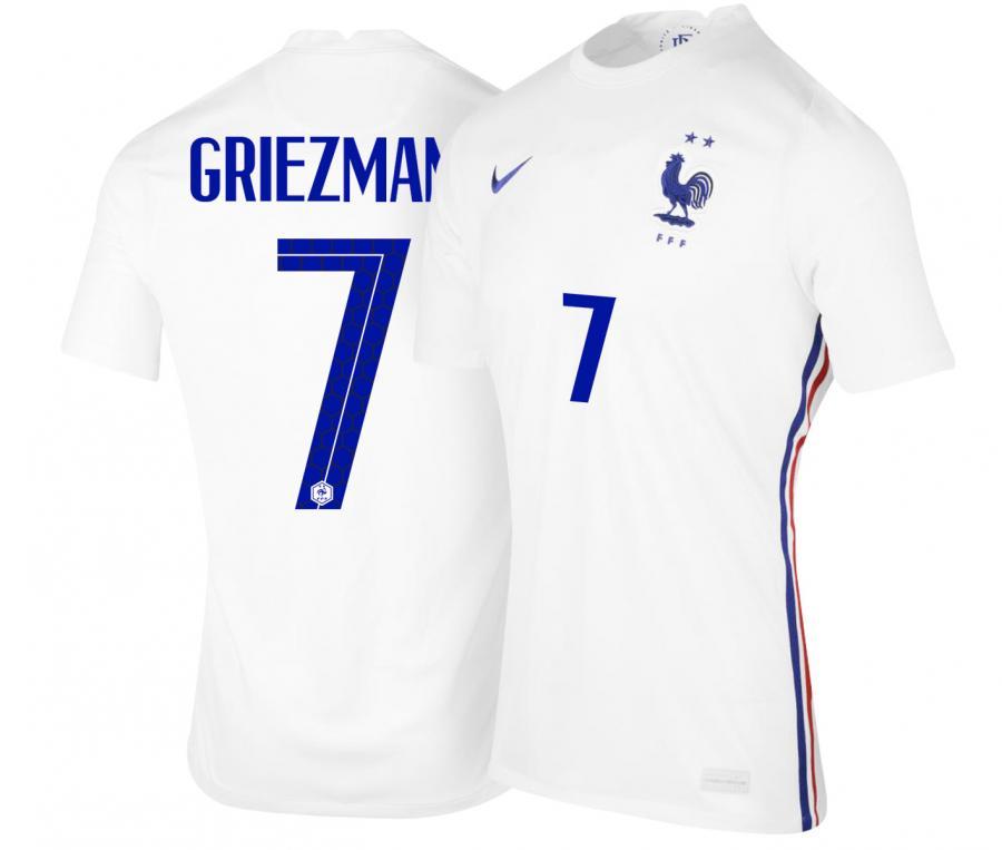 Maillot France Extérieur GRIEZMANN EURO2020 Junior