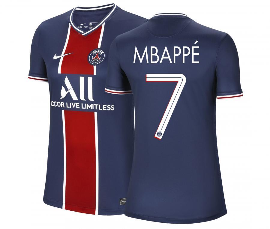 Maillot PSG Domicile UCL Mbappé 2020/2021 Femme