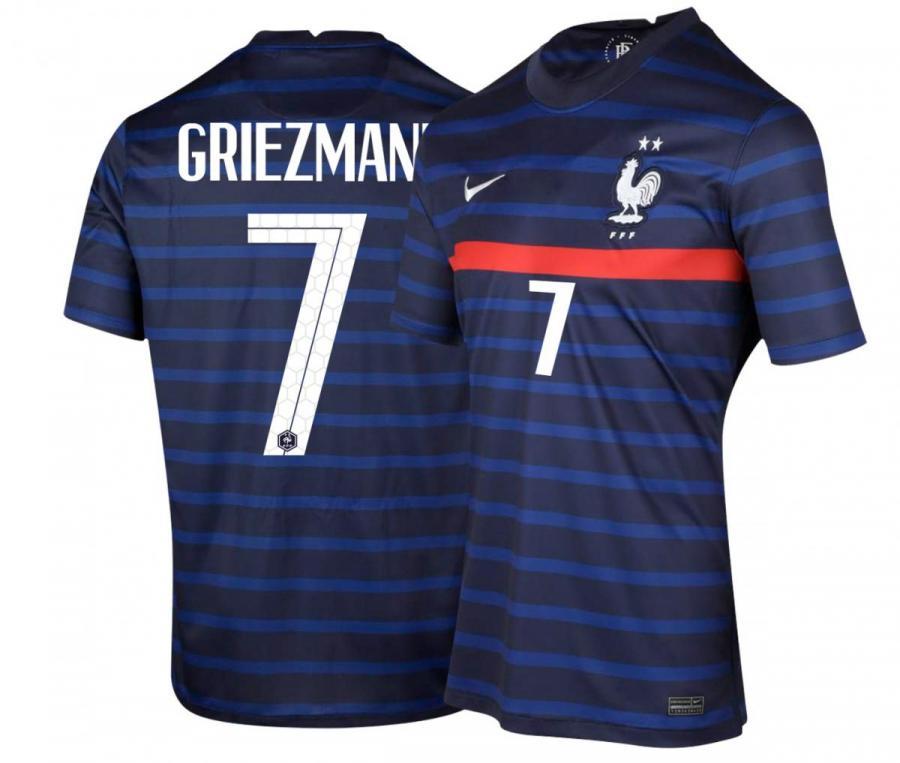 Maillot France Domicile GRIEZMANN 2021-2022 Junior