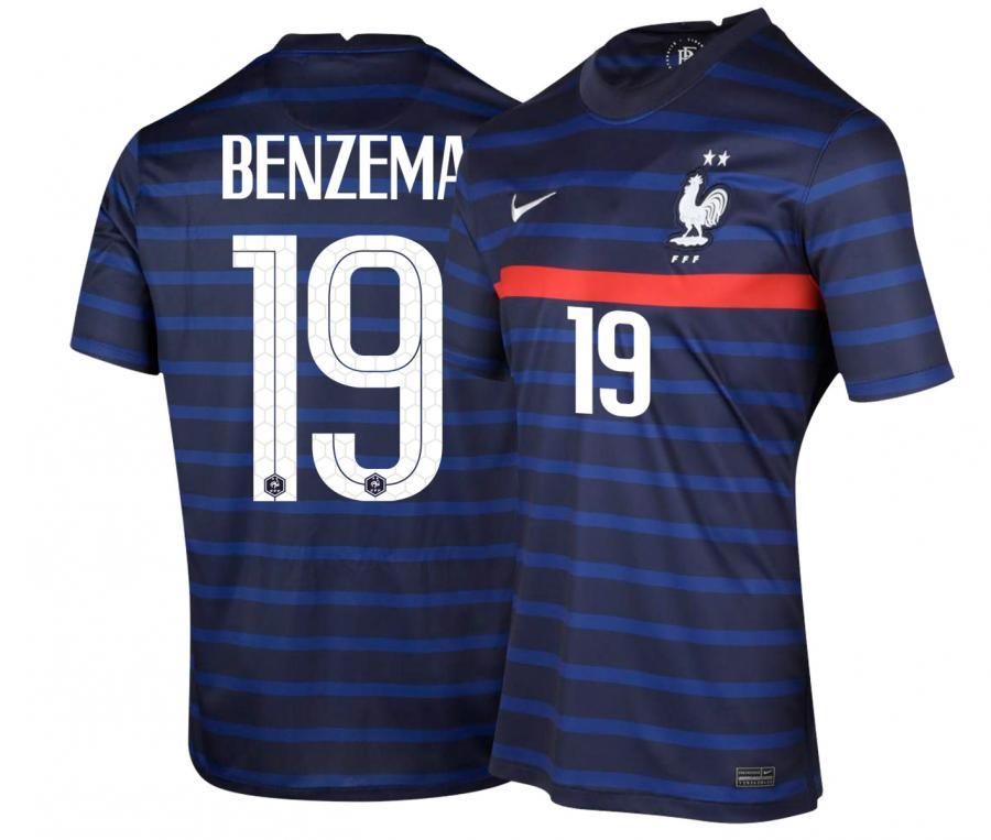 Maillot France Domicile BENZEMA EURO2020