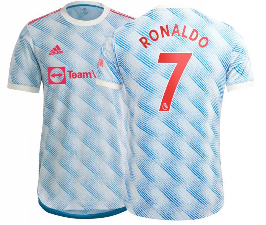 Maillot Authentique Manchester United Extérieur Ronaldo 2021/2022