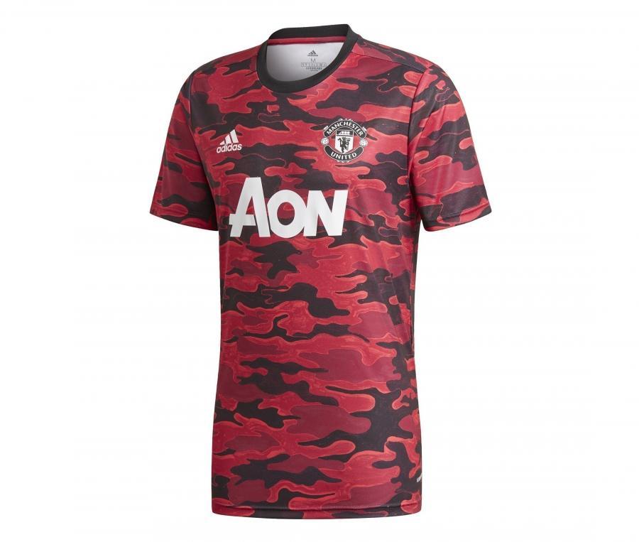 Maillot Pré-Match Manchester United Rouge/Noir