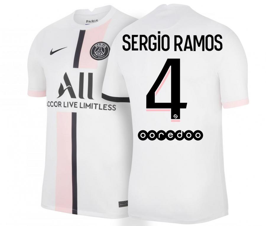 Maillot PSG Extérieur Sergio Ramos 2021/2022