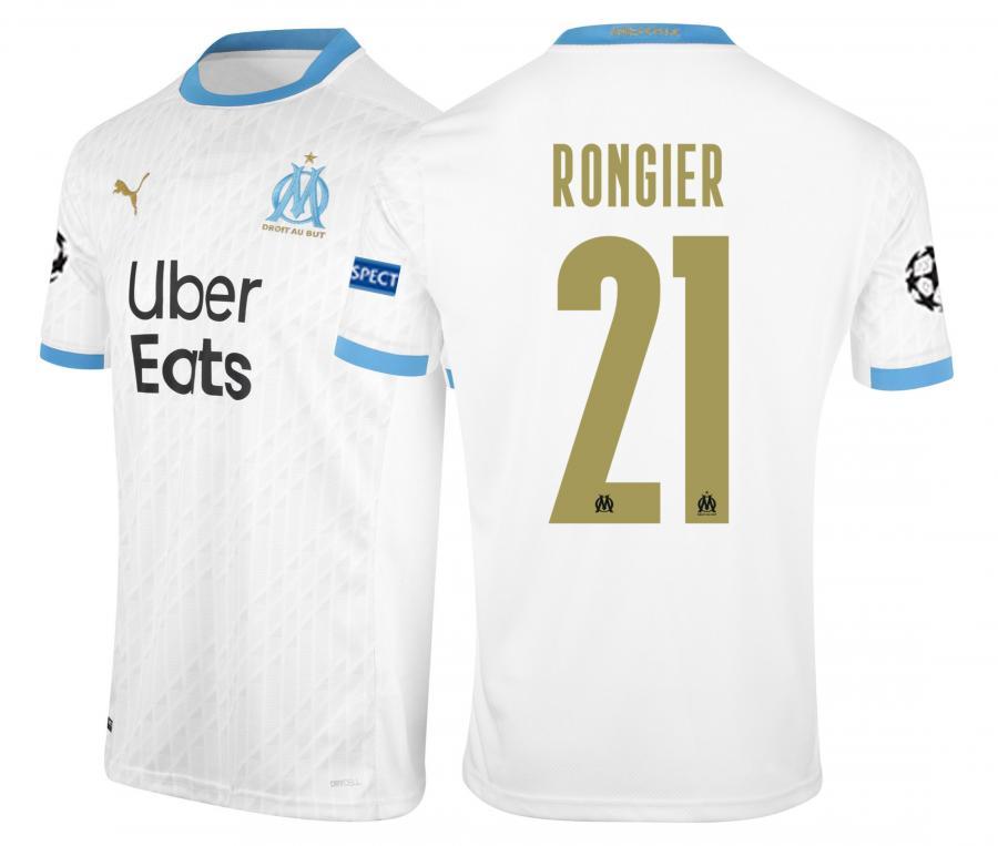 2020/2021 OM Stadium Home Europe Rongier Men's Football Shirt