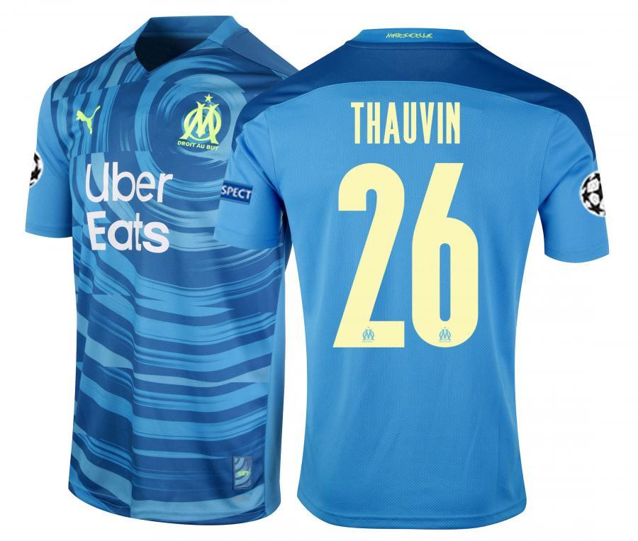2020/2021 OM Third Europe Thauvin Men's Football Shirt