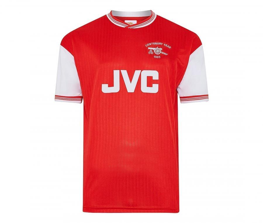 Maillot Vintage Arsenal 1985 Rouge