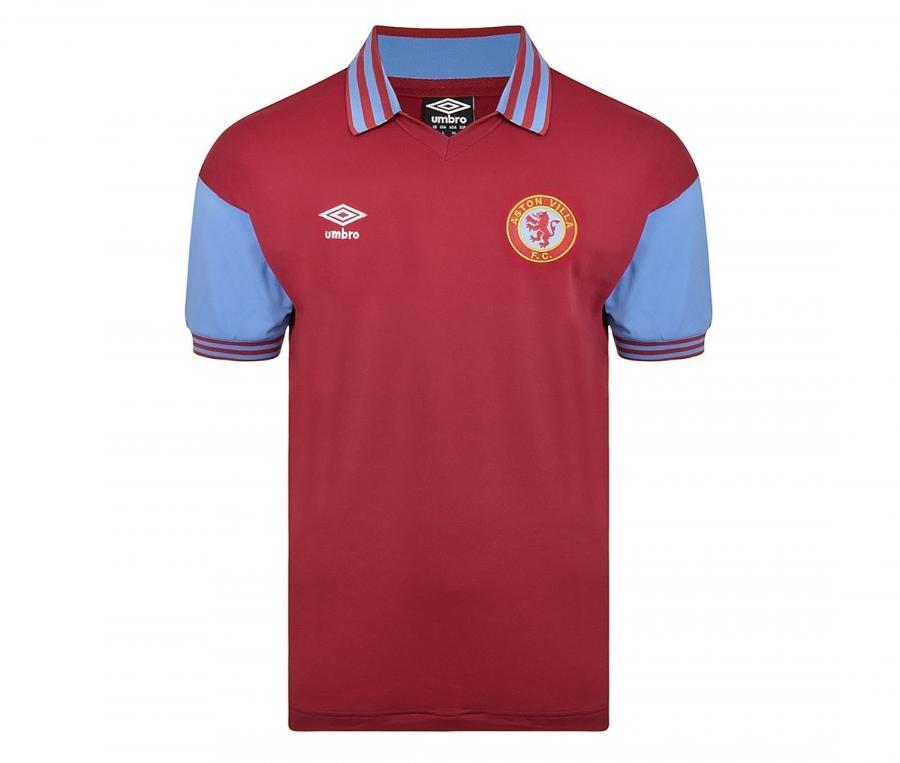 Maillot Vintage Aston Villa 1980 Rouge
