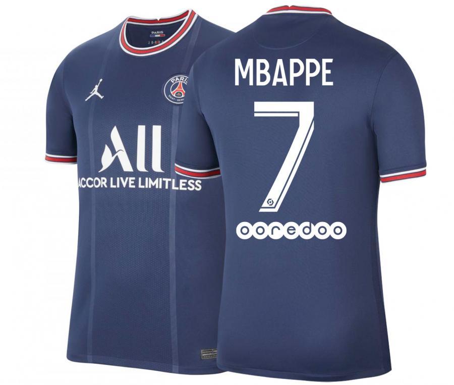 Maillot Jordan x PSG Domicile Mbappé 2021/2022