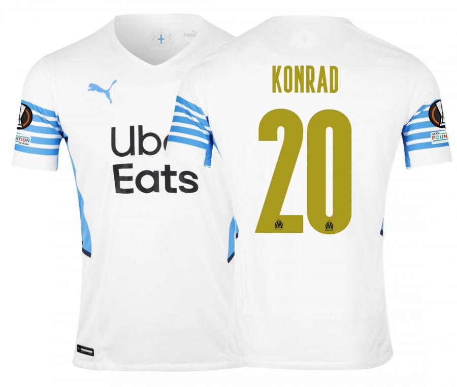 Maillot Authentique OM Domicile Europe Konrad 2021/2022