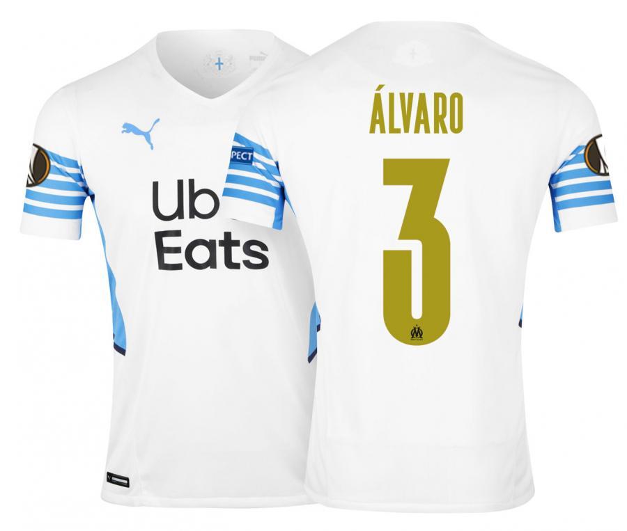 OM Authentic Home Men's Football Shirt Europe Alvaro 2021/2022