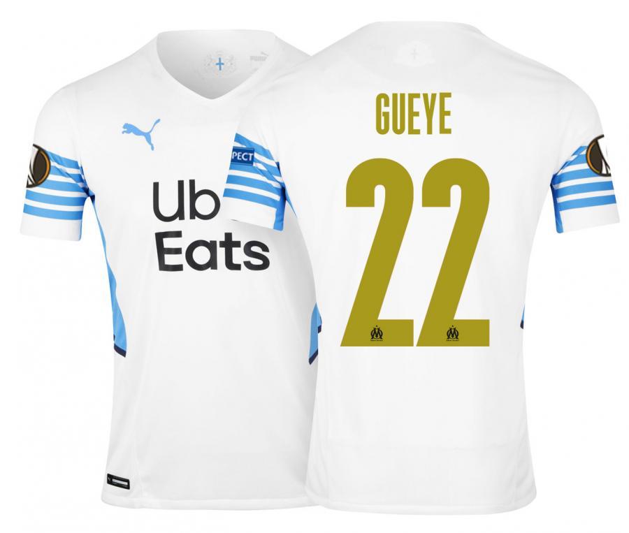 Camiseta Auténtica OM Local Europa Gueye 2021/2022
