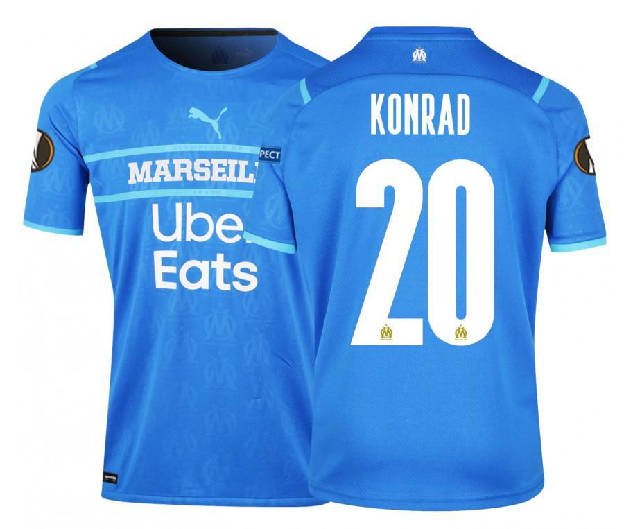 Camiseta Auténtica OM Third Europa Konrad 2021/2022