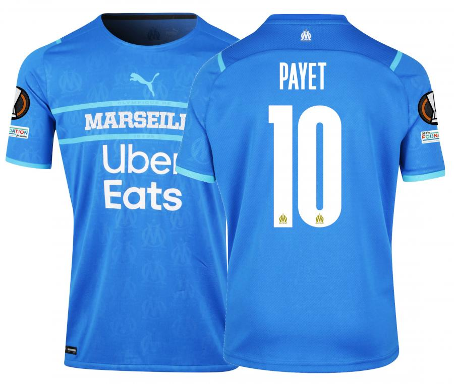 Maillot Authentique OM Third Europe Payet 2021/2022