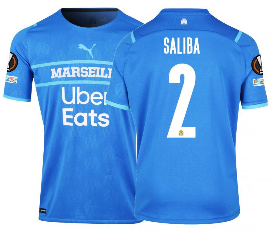 Maillot Authentique OM Third Europe Saliba 2021/2022