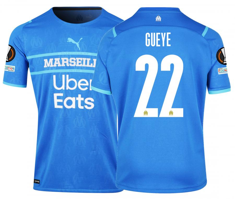 Maillot Authentique OM Third Europe Gueye 2021/2022