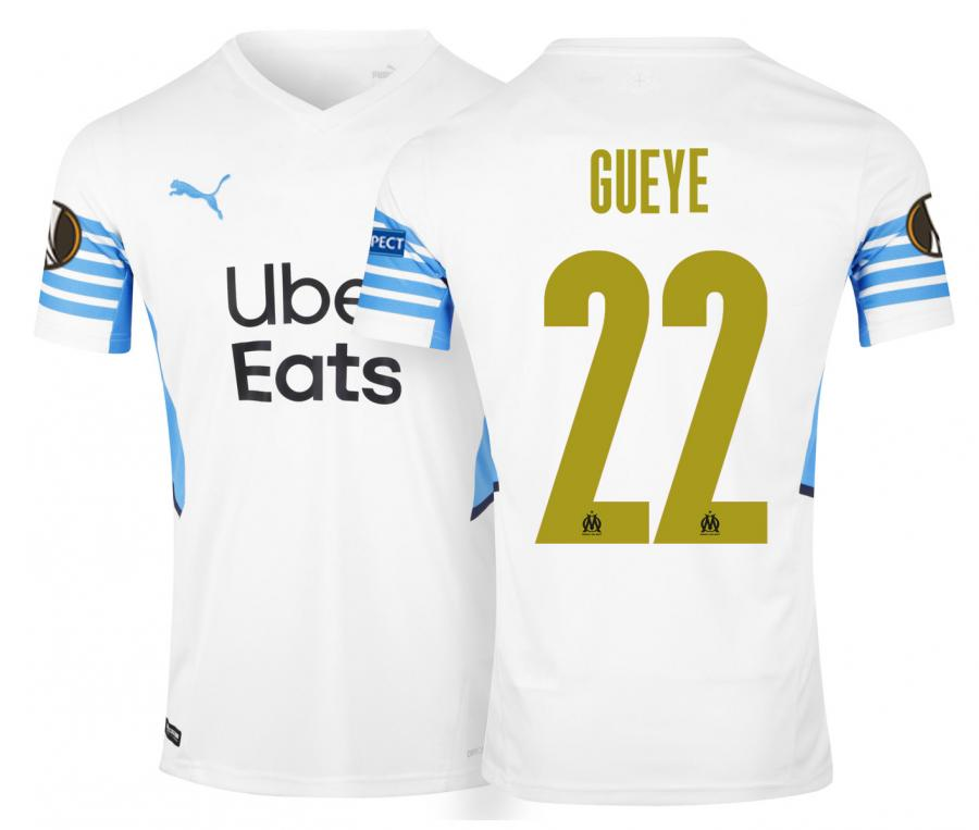 Camiseta OM Local Europa Gueye 2021/2022