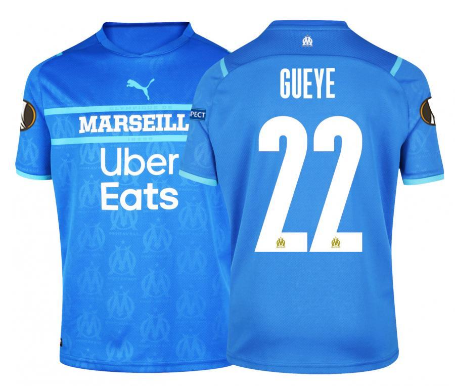 2021/2022 OM Third Men's Football Shirt Europe Gueye