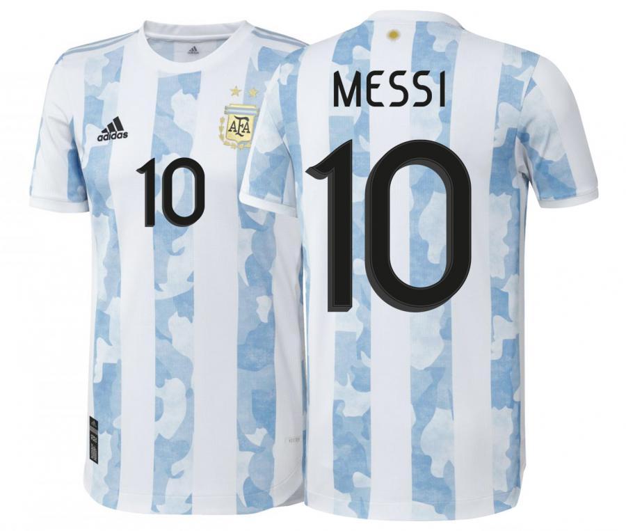 Maillot Authentique Argentine Domicile Messi 2020/2021