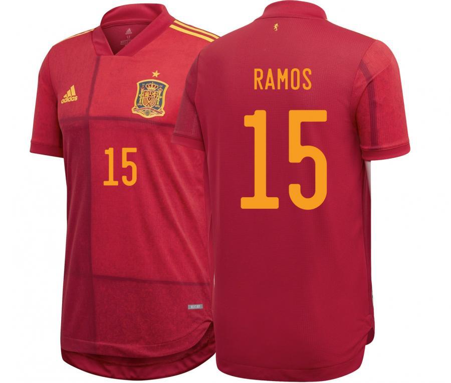 Maillot Authentique Espagne Domicile Euro Ramos 2020