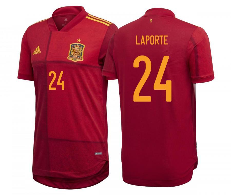 Maillot Espagne Domicile Authentique Laporte Euro 2020