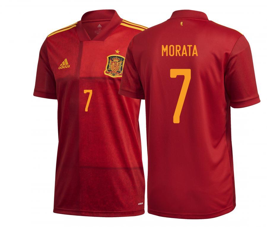 Maillot Espagne Domicile Euro Morata 2020