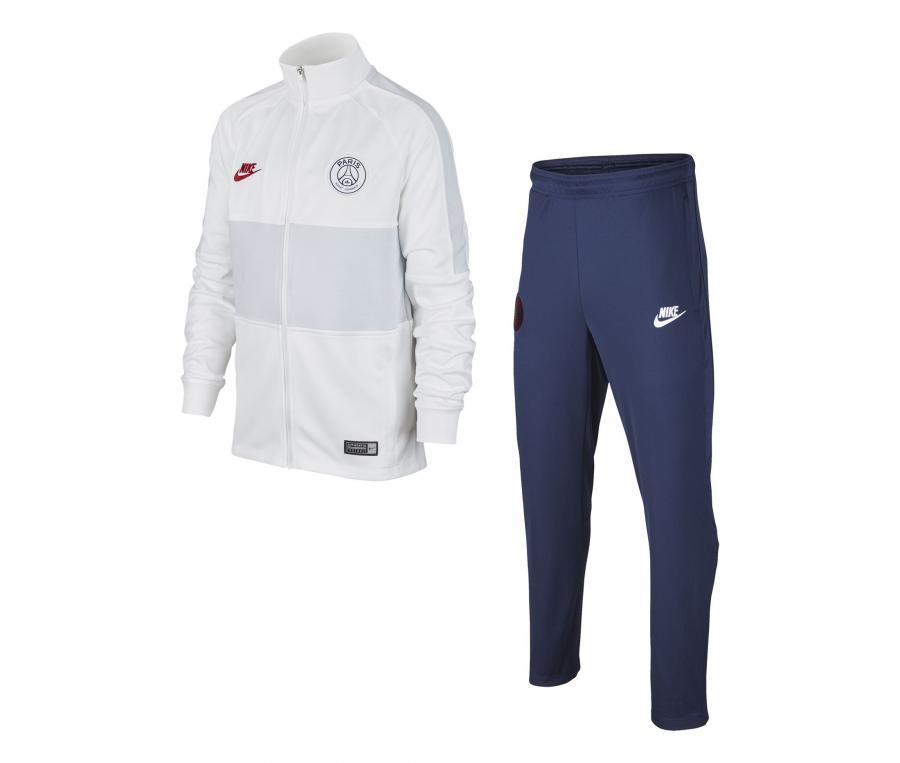 Survêtement PSG Strike Blanc/Bleu Junior