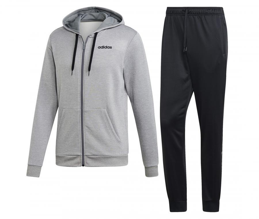 Survêtement à capuche adidas Gris/Noir