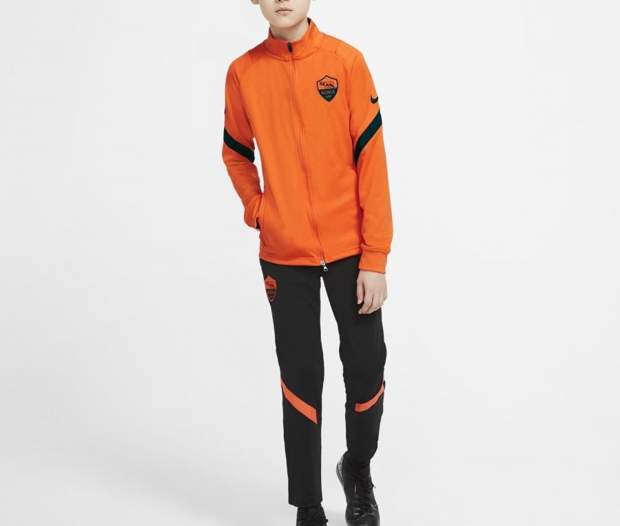 Survêtement AS Roma Strike Orange/Noir Junior