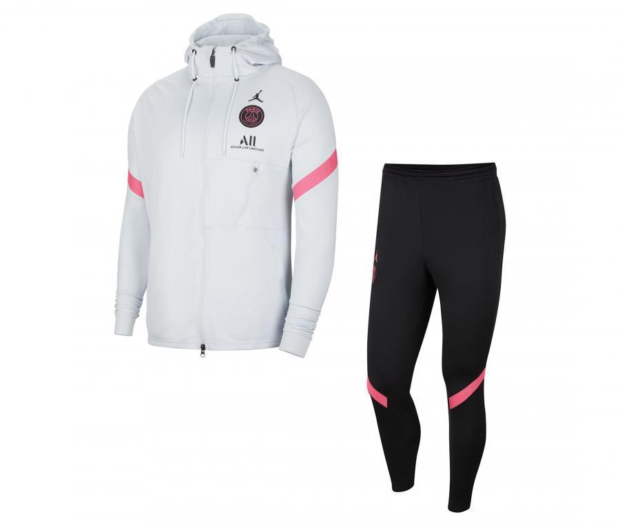Survêtement Jordan x PSG Strike Blanc/Noir
