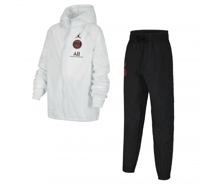 Survêtement Jordan x PSG Woven Noir/Blanc Junior