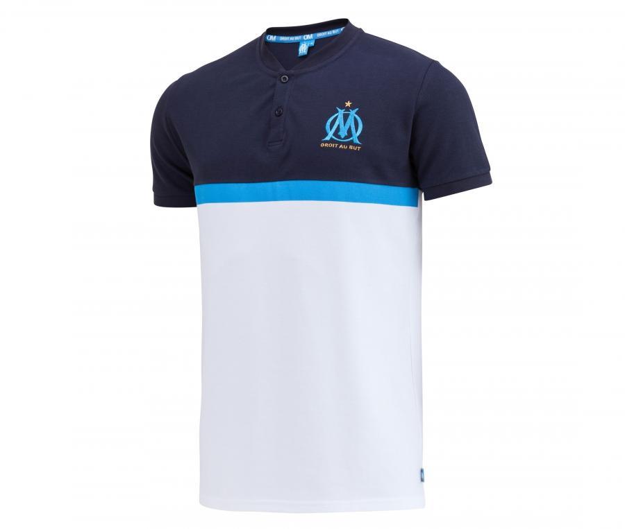Polo OM Fan Blanc/Bleu