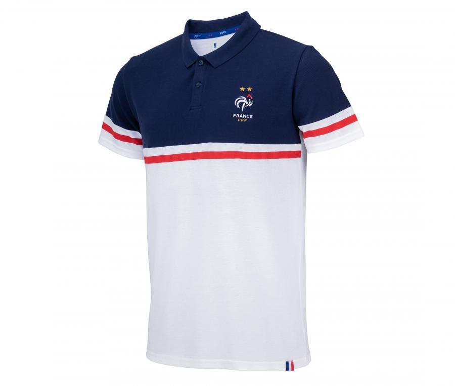 Polo France Fan Blanc/Bleu