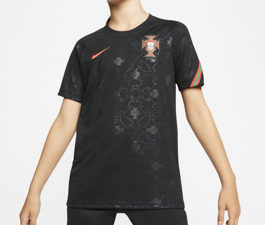 Maillot Pré-Match Portugal Noir Junior