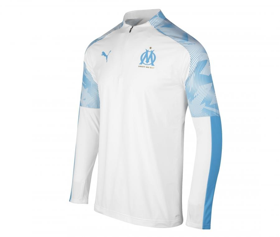 OM Quarter Zip Men's Football Top White/Blue
