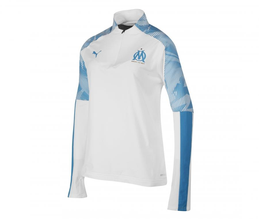 OM Quarter Zip Woman's Football Top White/Blue