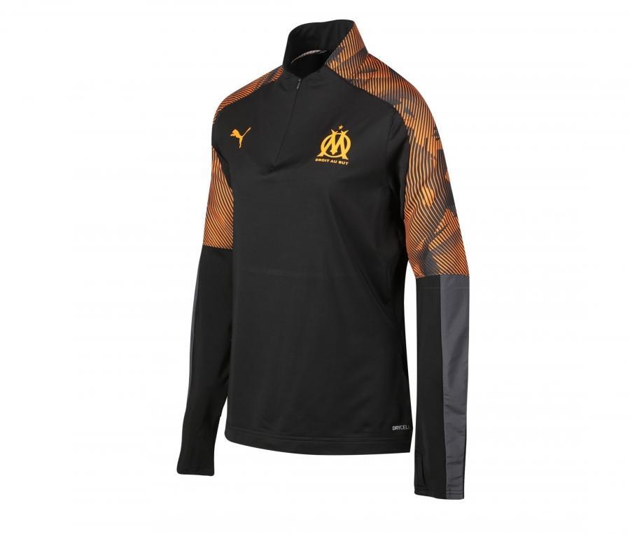 OM Quarter Zip Woman's Football Top Black/Orange